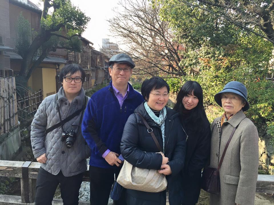 横浜のファミリー  京都観光