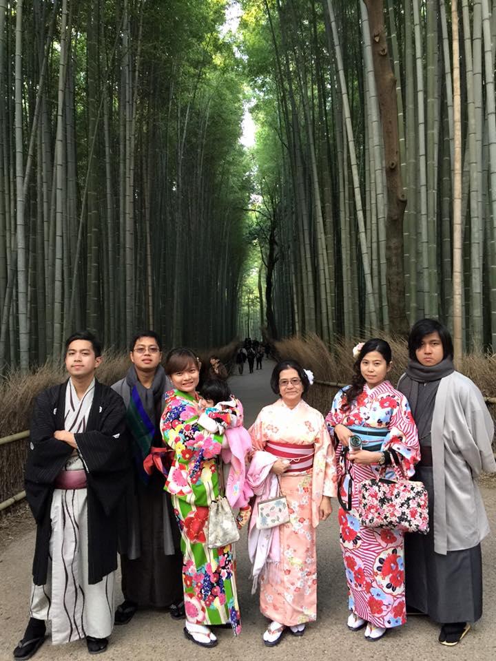 フィリピンからのファミリー. kyoto private tour